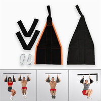 Fitness 2pc Sling Straps Abdominal Carver Hanging Belt Chin Up Sit Up Bar Pullup Heavy Duty