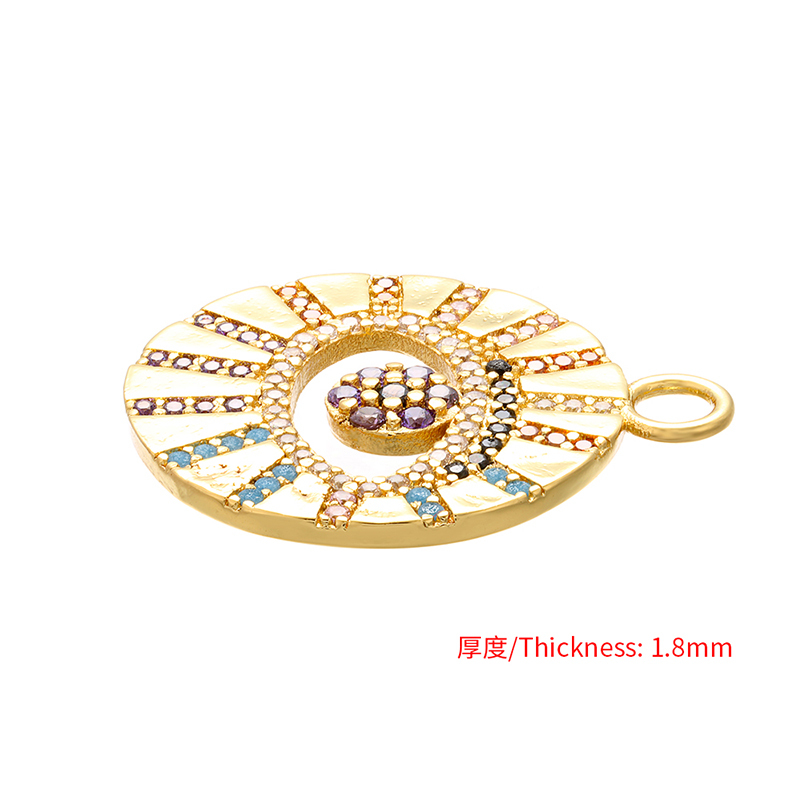 25x28mm Brass Crystal Round Eyes Earrings Necklace Bracelet Pendant Connector DIY Jewelry Making Women Necklace Bracelet Connector