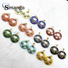 5Pairs,The Rainbow Series,The Round Shape Women Fashion Earrings.10Colors, Can Wholesale