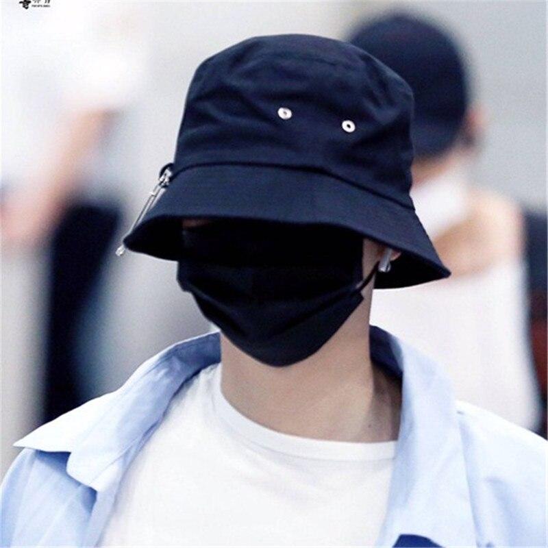 020fad27459 Hot jual 2017 BTS SUGA Mode K POP Besi LUBANG DENGAN PIN gaya topi Ember  Topi populer 100% handmade di Keranjang dari Aksesoris Pakaian  AliExpress.com ...