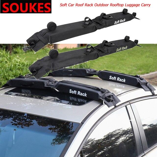 2pcs soft car universal roof rack
