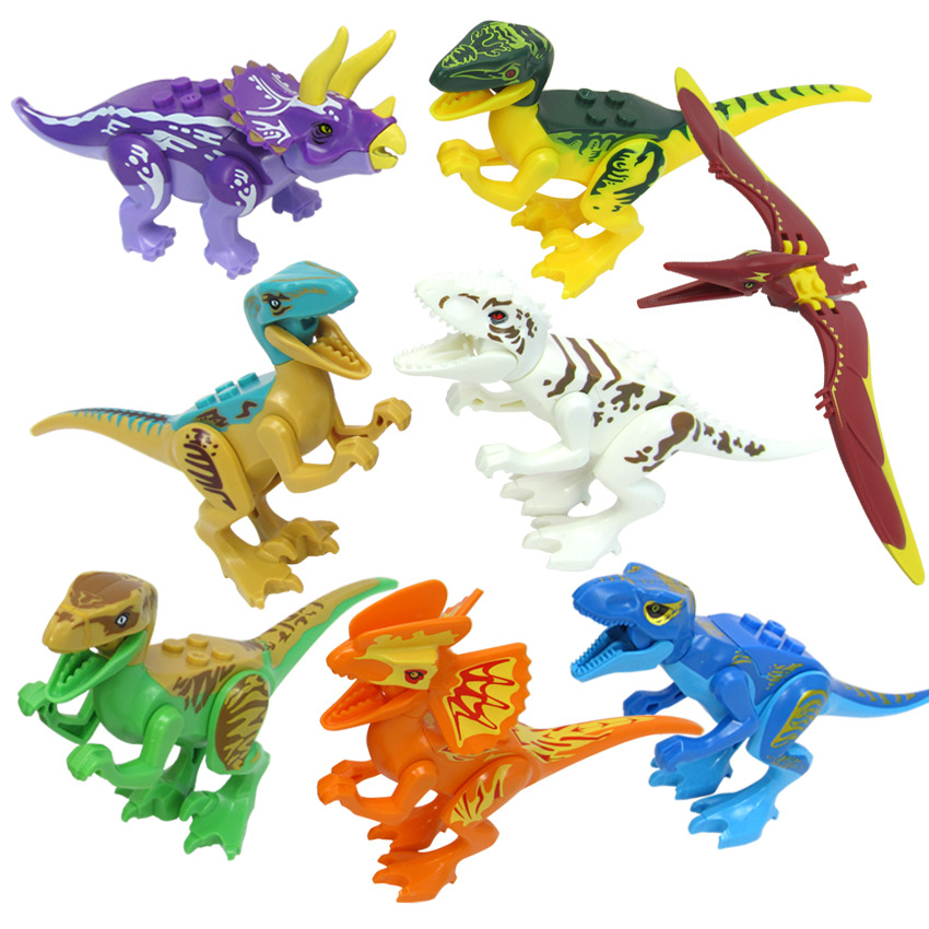 Jurassic 77021 8pcs Sets Model Dino World Dinosaur Park Bricks Building Blocks Super Heroes Action Bricks Toys LegoingsJurassic 77021 8pcs Sets Model Dino World Dinosaur Park Bricks Building Blocks Super Heroes Action Bricks Toys Legoings