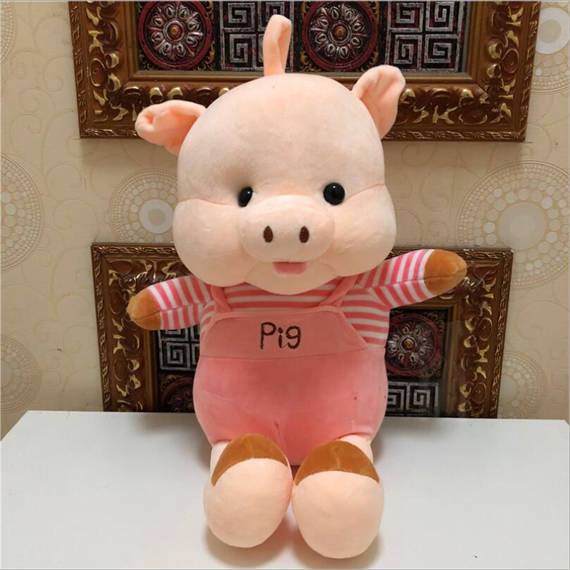 New Cartoon Cute Pig Short Plush Toys Stuffed Animal Pig Toy Soft Plush Pillow Children Birthday Christmas Gift in Stuffed Plush Animals from Toys Hobbies