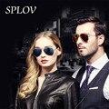 2017 Clássicos Óculos Polarizados Óculos de Sol Dos Homens/Mulheres Pontos Coloridos Reflective Coating Lens Eyewear Óculos Masculinos Óculos de Sol UV400
