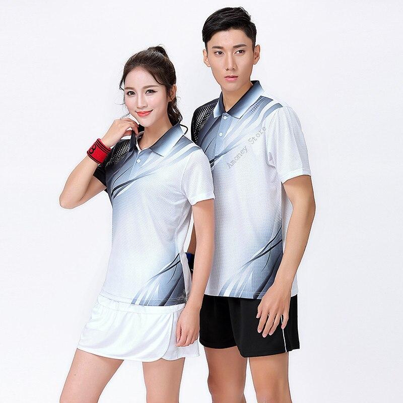 Adsmoney Теннис рубашка + Шорты для женщин Юбки для женщин мужчин/Для женщин спортивная игра рубашка Шорты для женщин, Настольный теннис рубашка...