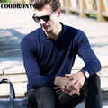 Top Quality Autumn Winter Knitted Cashmere Sweaters Merino Wool Sweater Men Casual Pure Color Turn-down Collar Pullover Men 6330