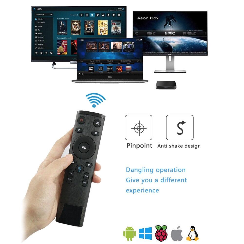 Q5 commande vocale mouche Air souris pour gyroscope jeu de détection 2.4GHz sans fil Microphone télécommande pour Android TV Box PC