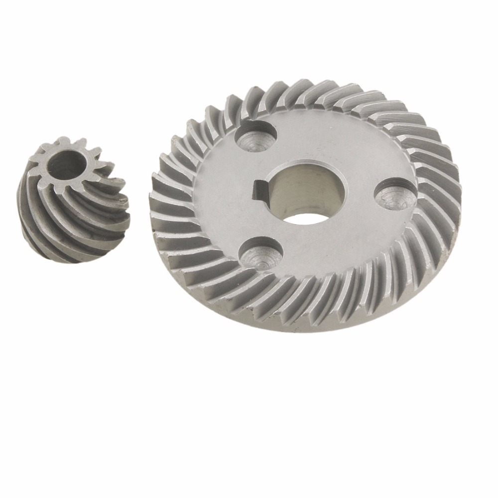 цена на New Arrival 2 Pcs Metal Spiral Bevel Gear Set for Makita 9553 Angle Sander Transmission Parts Gear High Quality