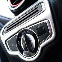 Top Quality For Mercedes Benz GLC 2016 2017 ABS Chrome Head Light Switch Cover Trim
