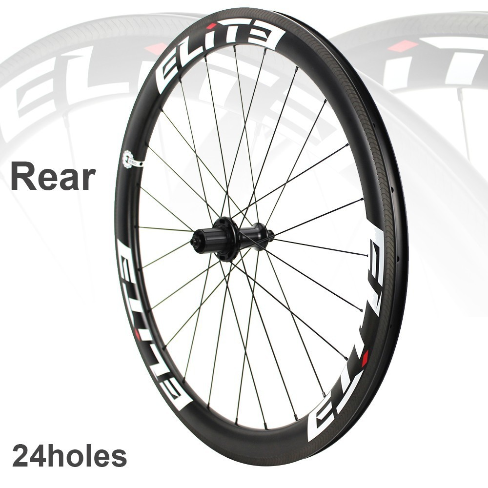 Image 5 - Elite SLT Road Carbon Wheels Aero A1 Brake YAn RA18 Ceramic Bearing Hub Pillar1423 SpokeTubular Clincher Tubeless 700C WheelsetBicycle Wheel   -