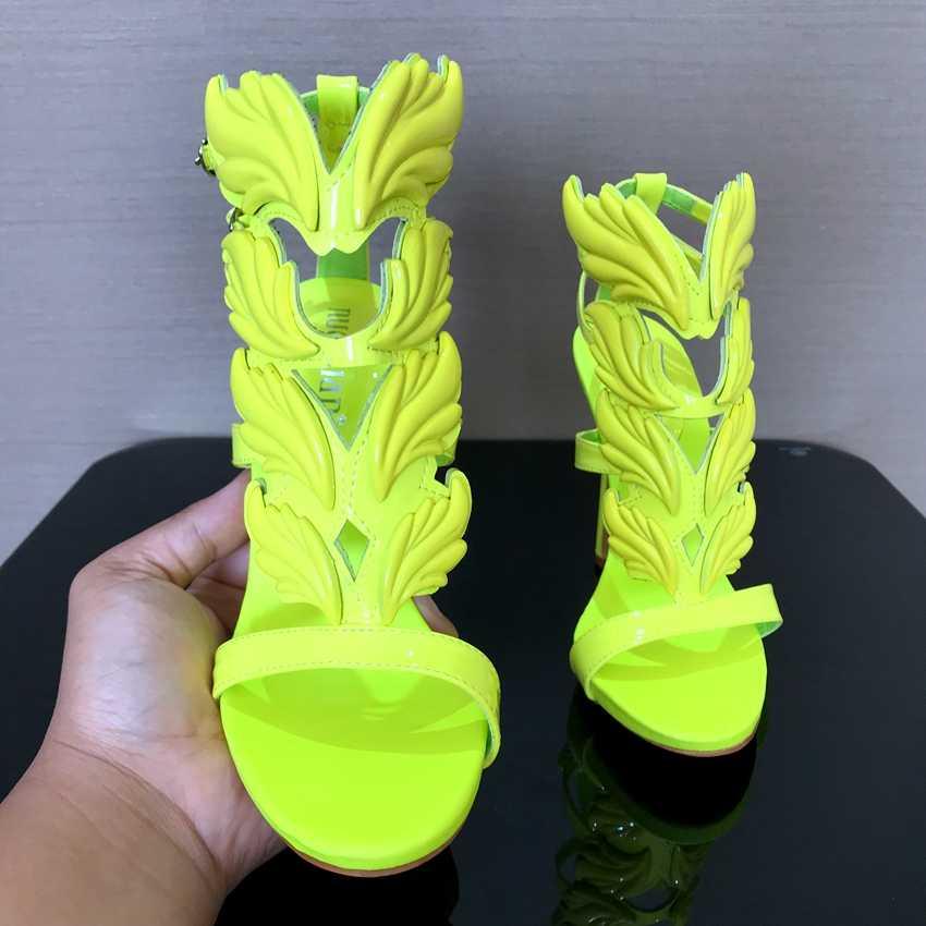ブランドのサンダル女性のプラットフォームハイヒールの靴女性レディース夏の靴グラディエーターサンダル女性パンプス葉炎パーティーヒールパンプス