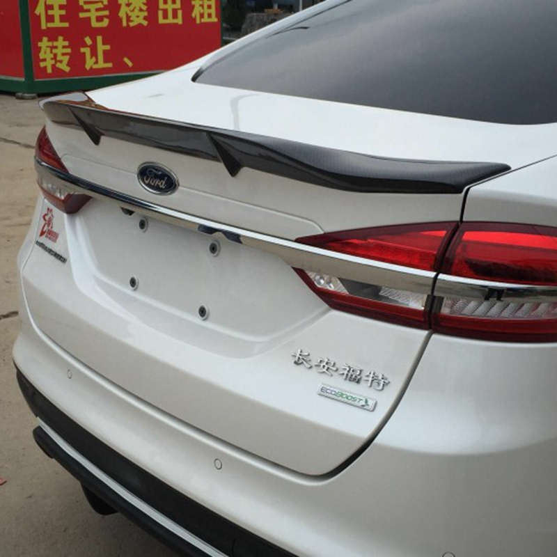 For Ford Mondeo/Fusion Auto Accessories New Model 2013 2014 2015 2016 2017 High Quality Carbon Fiber Rear Wing Spoiler for ford fusion mondeo 2013 2014 2015 control glass water panel protective film stickers carbon cover