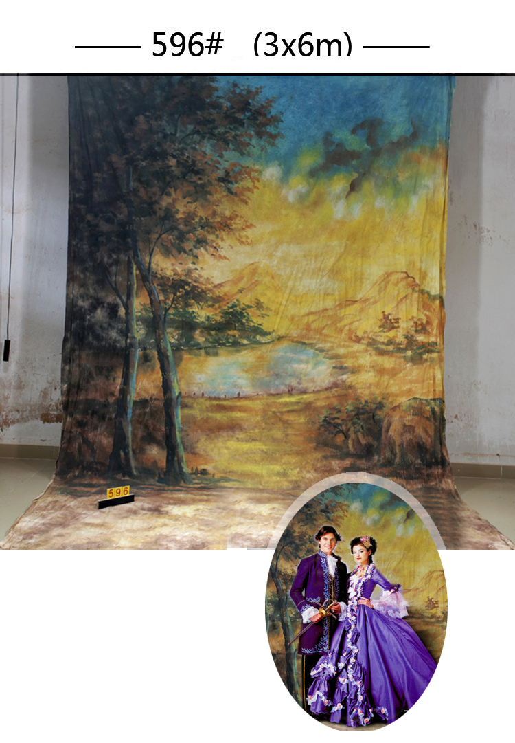 Professional forest Scenic 10x20ft Muslin 100% Stroke Hand-Painted Photo Backdrop Background customized size & photo professional customized 10x20ft hand painted muslin scenic photo backdrop castle photography studio prop background wedding