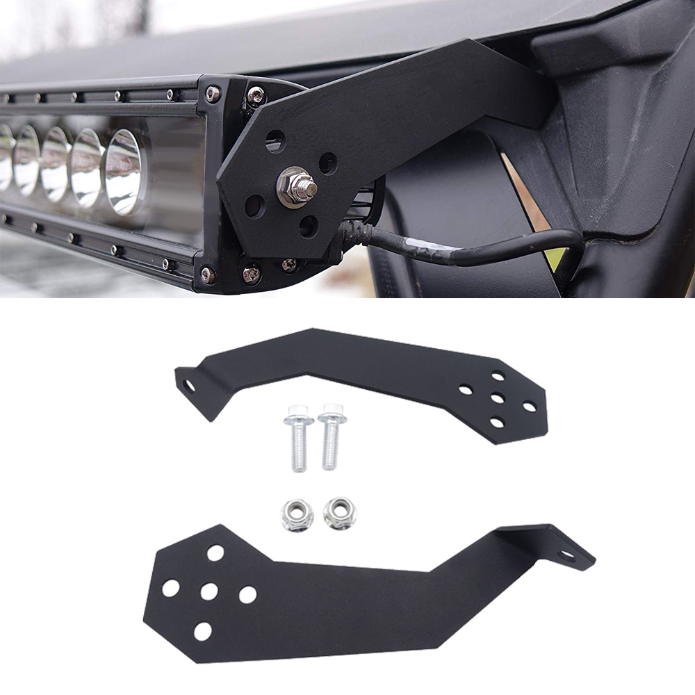 Upper Roof Roll Bar Cage Mounting Brackets For Polaris RZR 900 1000 Fit 32 Inches Straight Or Curved LED Light Bar