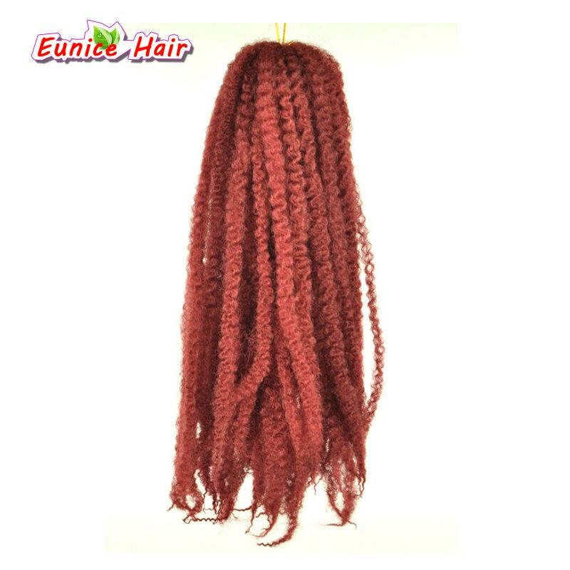 Fios de Cabelo Tranças Afro Marley 20 Fios/Pacote de Fibra Kanekalon Torção Crochê Extensões Do Cabelo 18 inch 100g