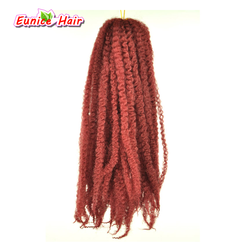 Strands Afro Marley Braids Hair 20Strands/Pack Kanekalon Fiber Crochet Twist Hair Extensions 18inch 100g