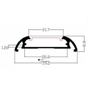 Image 4 - Алюминиевый профиль для двухрядной светодиодной ленты, 26 мм, 2 10 шт./лот, 0,5 м/катушка