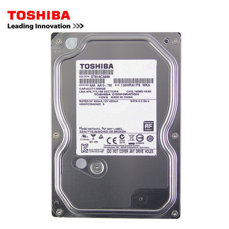 Toshiba-ordenador de sobremesa, 500 GB hdd, disco duro mecánico interno de 3,5
