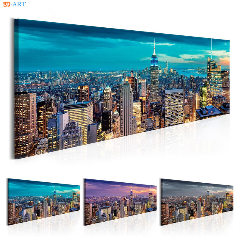 New York City View Canvas Painting Posters And Prints Modern Wall Art Wall Pictures For Living Room Decoration Home Office Decor