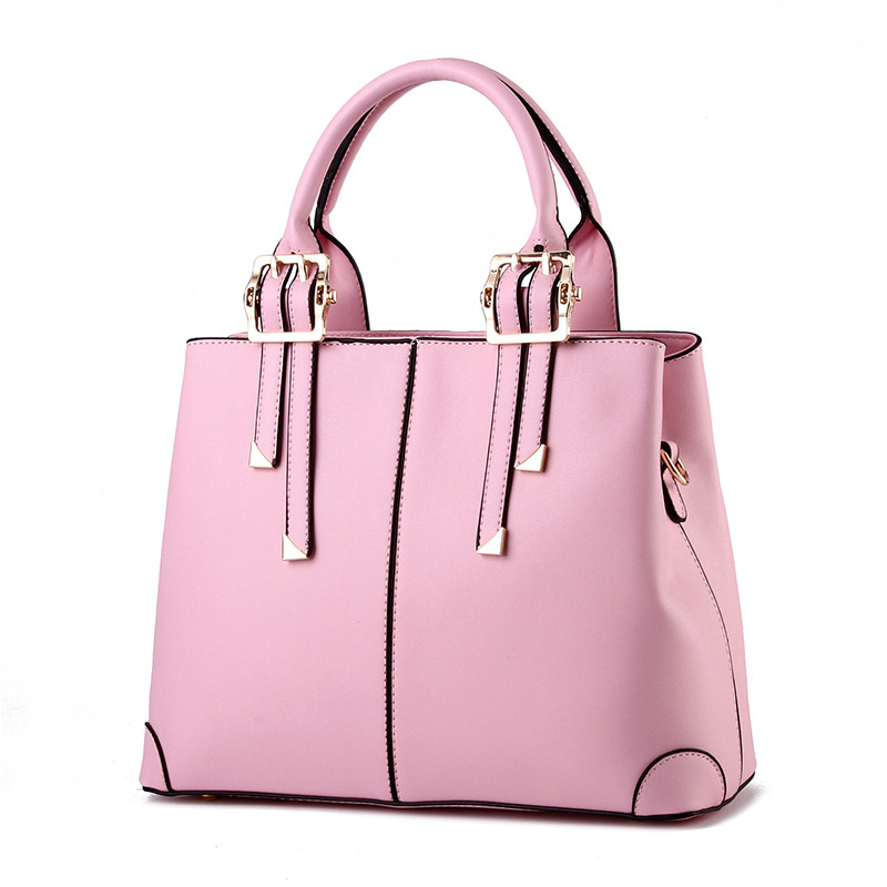 High Quality Fashion PU Women Handbag Elegant Black Office Lady Shoulder Bag Casual Clutch Tote elegant pu office lady business handbag casual clutch fashion women shoulder bag zipper pink