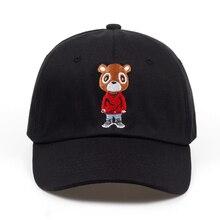 Новейшая Кепка с медведем для папы, милая бейсболка, летняя бейсболка для мужчин и женщин, кепка s унисекс, эксклюзивная Кепка в стиле хип-хоп Kanye West Ye