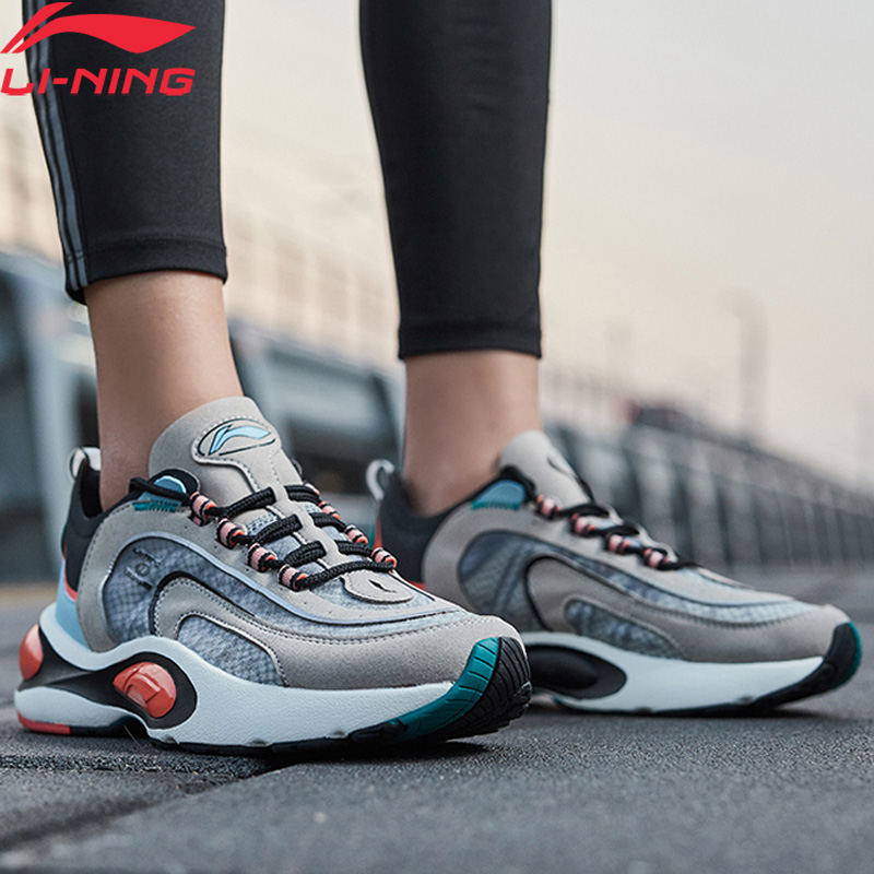 Li-Ning Men V8 Cushion Running Shoes LN CLOUD LITE Retro Breathable Support LiNing Li Ning Sport Dad Shoes ARHP093 XYP913