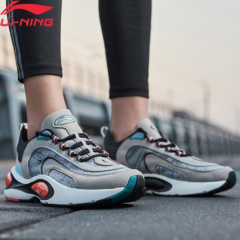 Li-Ning Men V8 Cushion Running Shoes LN CLOUD LITE Retro Breathable Support LiNing Li Ning Sport Dad Shoes ARHP093 XYP913