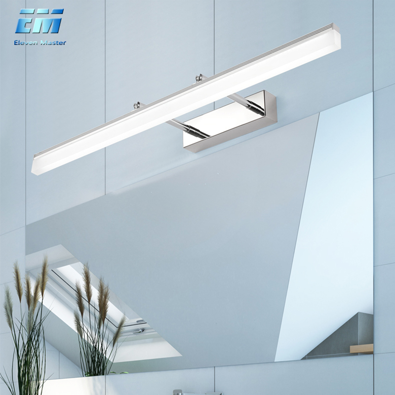 LED Wall Light Bathroom Mirror Lamp Black White Gold Washroom Wall Lamp Fixtures 16W 20W 90-260v Makeup Mirror Light ZJQ0015
