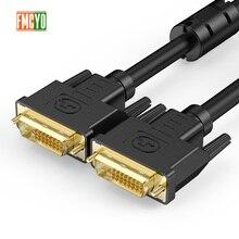DVI męski na 24 + 1or 24 + 5 DVI D męski Adapter kabel wideo pozłacane 1080P dla HDTV DVD projektor 1.5m 3m 5m 10m 15m 20m
