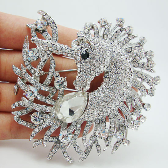 Unique Horse Animal Clear Crystal Rhinestone Brooch Pin Pendant Classic  Rhinestone Unicorn Horse Decorated Jewelry-in Brooches from Jewelry & Accessories