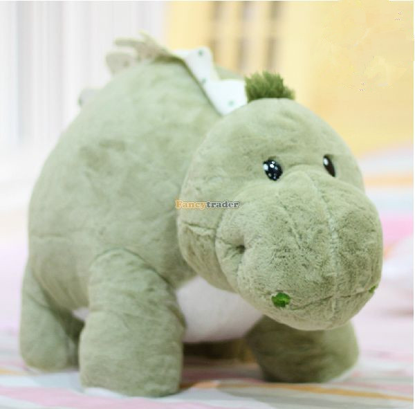 Fancytrader 28'' / 70cm Giant Stuffed Lovely Plush Soft Dinosaur Toy, 3 Colors Available! Nice Gift, Free Shipping FT50357 fancytrader 2015 new 31 80cm giant stuffed plush lavender purple hippo toy nice gift for kids free shipping ft50367