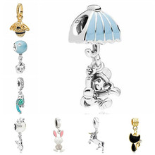 Btuamb Maxi Small Statement Mickey Lucky Doll Bee Unicorn Pendant Beads Fit Pandora Charm Bracelets for Women DIY Making Jewelry(China)