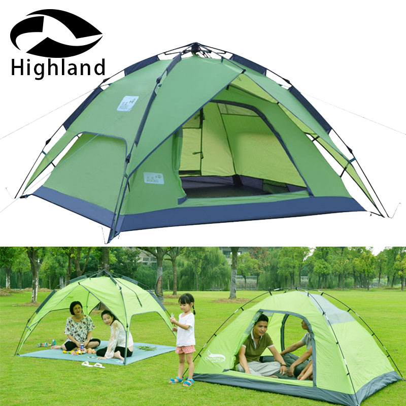 One touch Waterproof Tent Anti UV Simple Installation and Folding Breathable for 3 4 Person Family