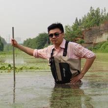 Hombres Transpirable Pecho Waders de la pesca Con Mosca, impermeable Ave Zancuda de Rafting con Calcetines De Neopreno