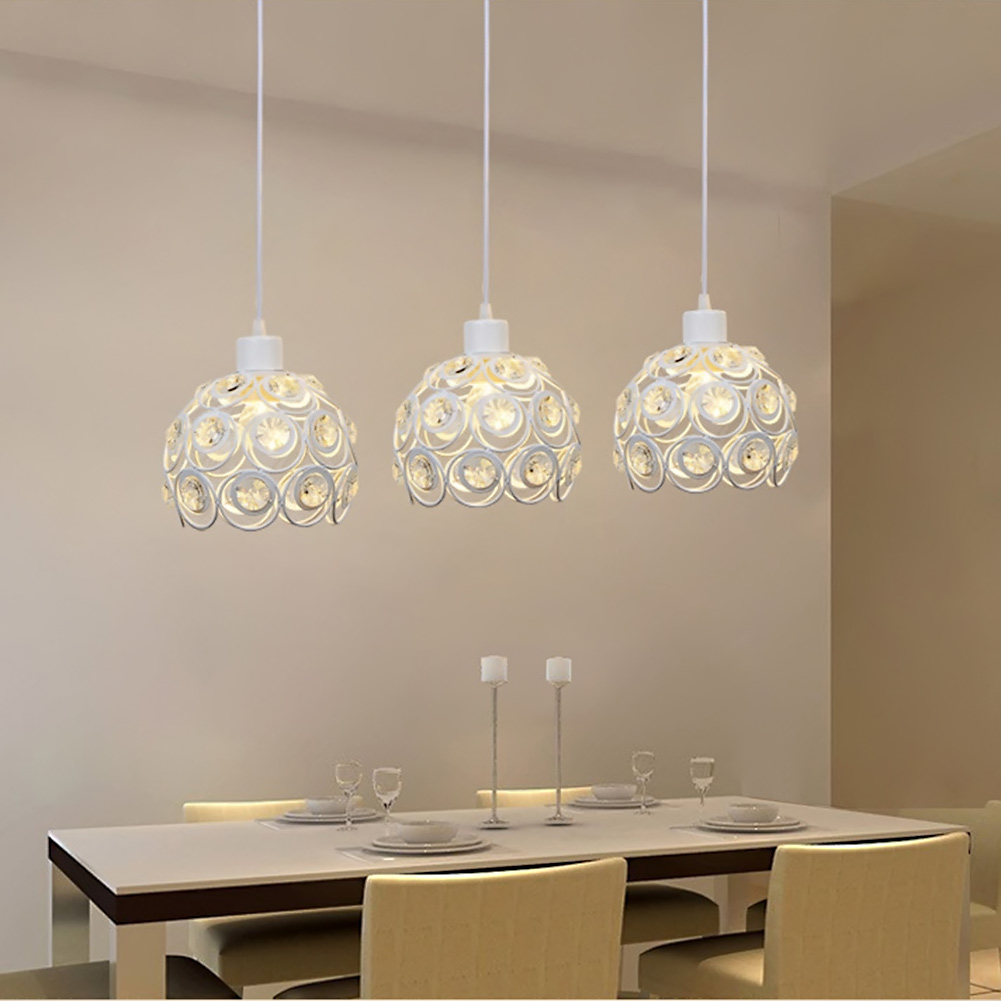 Creative Design Modern Glass Crystal Pendant Lights 3 Heads Hanging ...