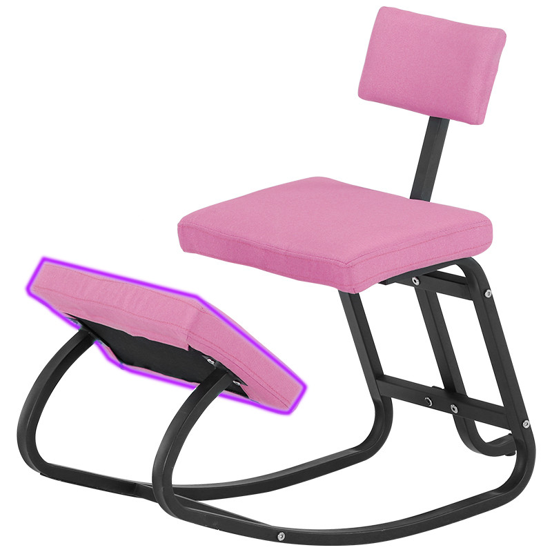 Home Office Ergonomic Kneeling Chairs Balance Kneel Stool Rocking Kneeling Chair for Perfect Posture Kids Children with Backrest