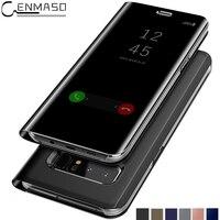 Para SAMSUNG GALAXY Espelho Visão Clara Chapeamento S8 Mais Caso Inteligente para Galaxy Note 8 5 Note5 Note8 Borda S6 S7 S8 Além de Stand cobrir