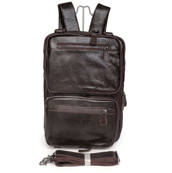 Multifunctional Genuine Leather Backpack Men Backpacks Fashion Male School Backpack Travel Bag Cowhide Leather Rucksack J7014