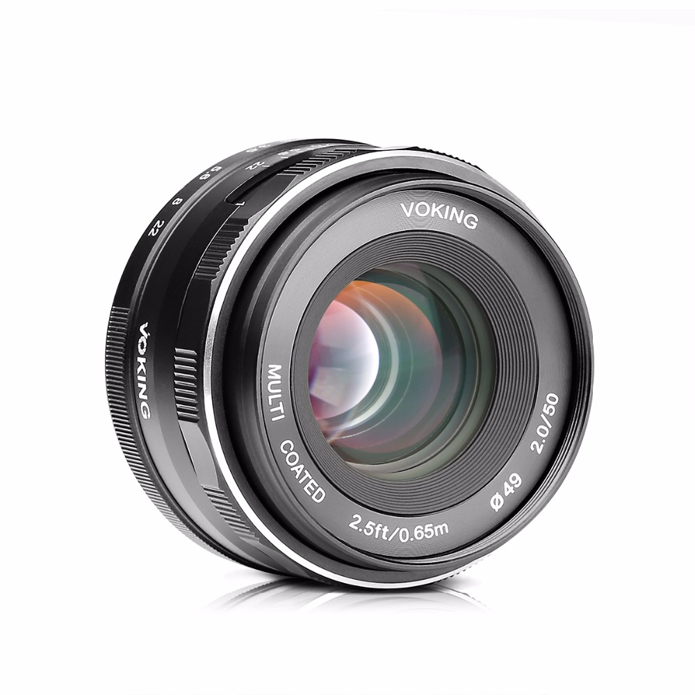 Voking VK-50mm f2.0 Large Aperture Manual Focus Lens for Nikon1 Nikon1 V1/J1