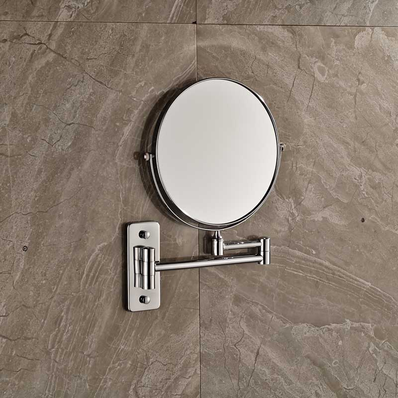Bathroom Wall Mounted Extended Folding Arm Makeup Mirror 2 Face Magnifying In Bath Mirrors From Home Improvement On Aliexpress