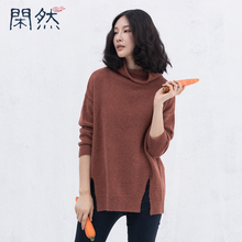 XianRan Women Turtleneck Sweaters Loose Casual Plus Size Wool Rabbit Fur Pullover Sweaters High Quality Free Shipping