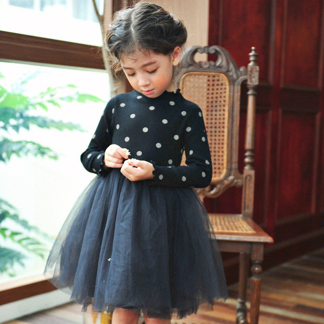 Autumn Cute Baby Girls Frocks Party Dress