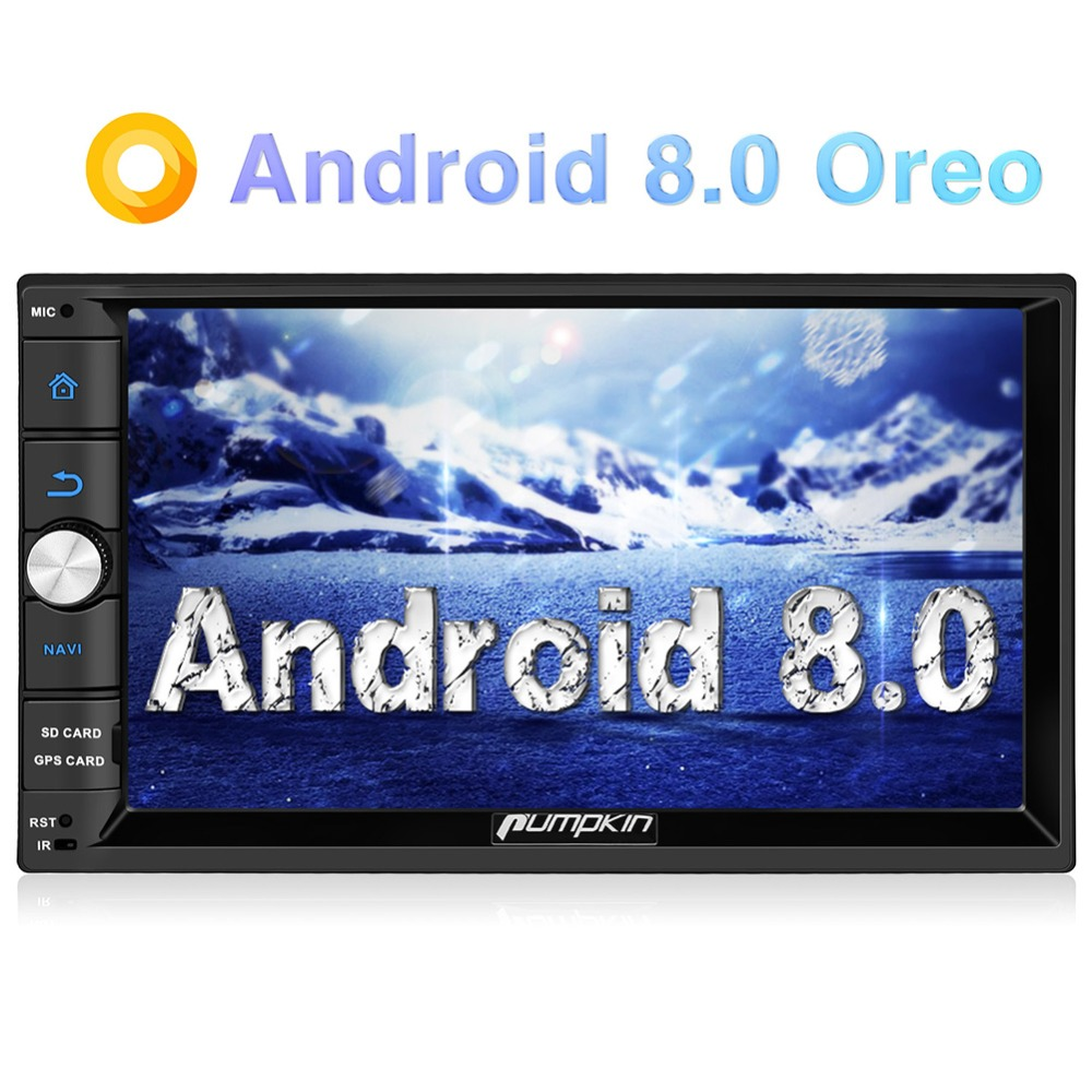 Pumpkin 2 Din 7'' Android 8.0 GPS Universal Car Radio No DVD Player 2G RAM 32G ROM Car Stereo Audio Wifi 3G Fast Boot Headunit