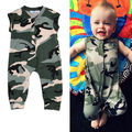 Newborn t shirt Girl Boy Clothes Fashion Bebe Rompers Fashion Jumpsuit Overalls For Children Baby Army Green Camouflage Clothing