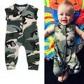 Recién nacido camiseta Chica Chico Bebe Mamelucos Monos Mono De La Manera Ropa de Moda Para Niños Bebé Ropa de Camuflaje Verde Del Ejército