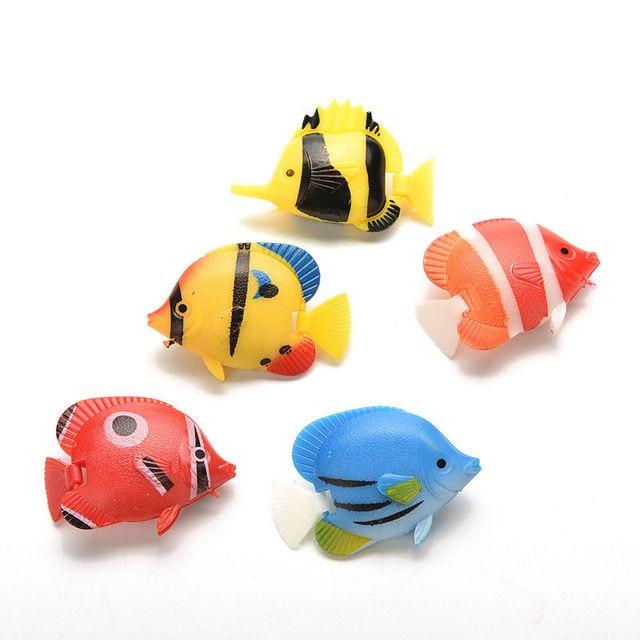 1 pcs aquarium artificial fish fake tropical fish for Toy fish tank