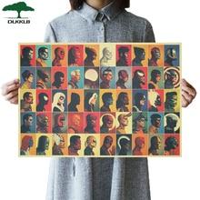 DLKKLB, universo de Marvel, superhéroe Vintage, póster de película de los Vengadores del Atlas, póster de papel Kraft, tema, decoración del hogar, pintura, pegatinas de pared
