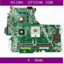 N53SN GT550M 2GB Graphics card memory Mainboard REV 2.2 For Asus  N53S N53SV N53SN N53SM laptop motherboard 100% Test Working