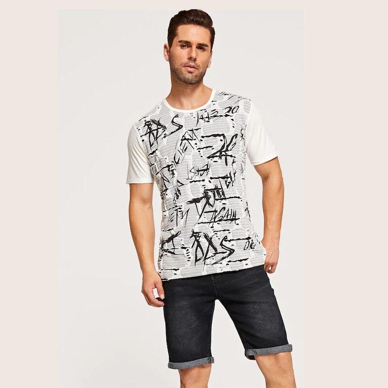 New Picture European Code Man Printing T Shirt Men Pity Harajuku Tops Streetwear Tshirt Hip Hop Silk Cotton Linen Crew Neck