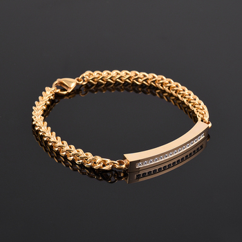 4 Colors 10Pcs/lot Memorial Ashes Keepsake  Stainless Steel Chain Bracelet With Beautiful Crystal Inlay  Cremation Jewelry